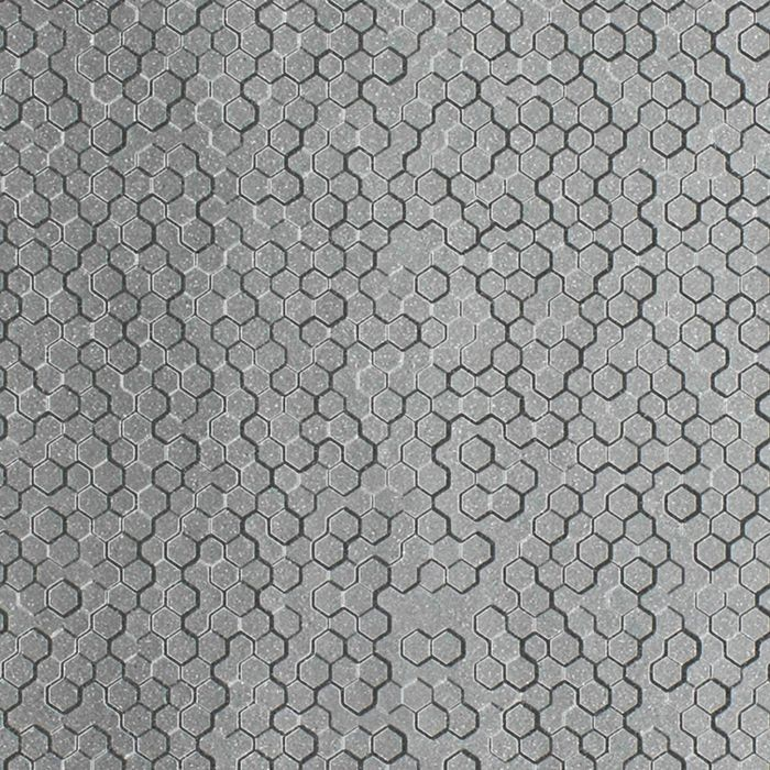 FlexLam 3D Wall Panel | 4ft W x 10ft H | Beehive Pattern | Argent Silver Finish