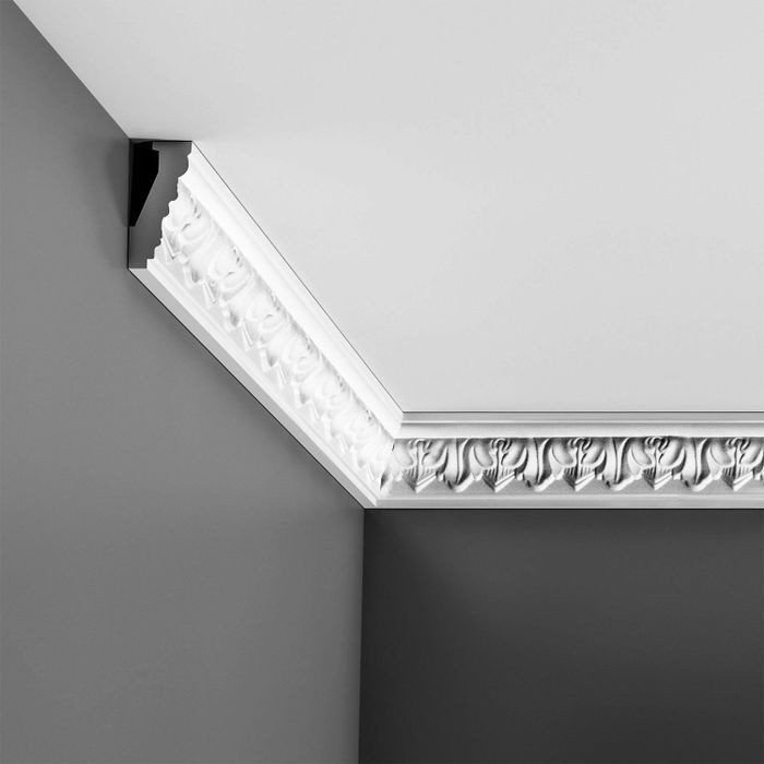 Orac Decor | High Density Polyurethane Crown Moulding | Primed White | 2-5/8in H x 1-1/8in Proj x 2-7/8in Face
