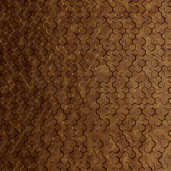 10' Wide x 4' Long Beehive Pattern Antique Bronze Finish Thermoplastic FlexLam Wall Panel
