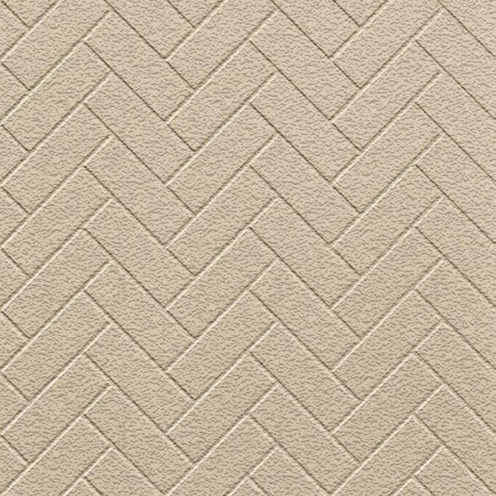 10' Wide x 4' Long Herringbone Pattern Eccoflex Tan Finish Thermoplastic Flexlam Wall Panel