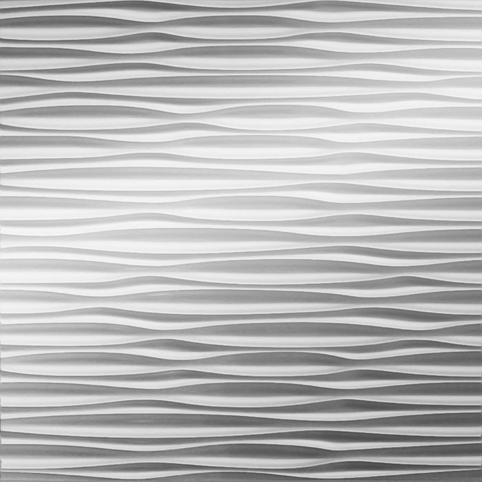 FlexLam 3D Wall Panel | 4ft W x 10ft H | Sahara Pattern | Mirror Finish