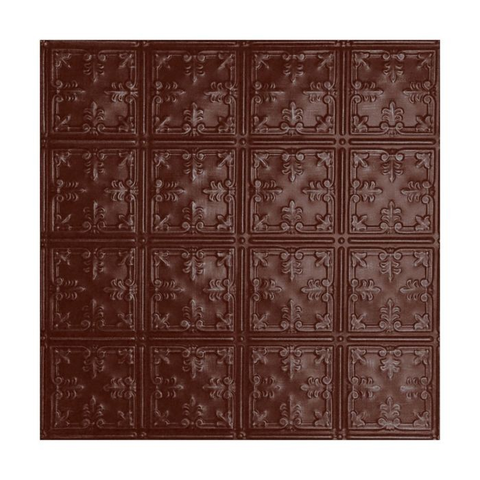 Tin Plated Stamped Steel Ceiling Tile | Nail Up/Glue Up Ceiling Tile | 2ft Sq | Cl Burgundy Finish