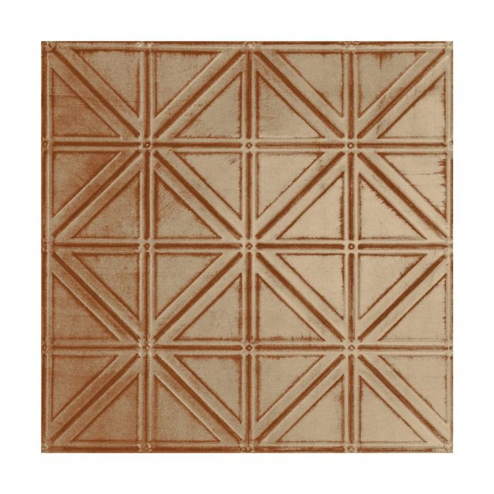 Tin Plated Stamped Steel Ceiling Tile | Nail Up/Glue Up Ceiling Tile | 2ft Sq | Monterey Finish