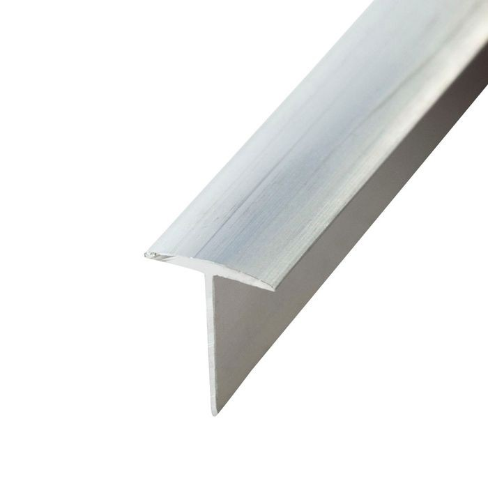 1/2in Clear Anodized (Satin) Finish Aluminum | Filler Tee Moulding | 12ft Length