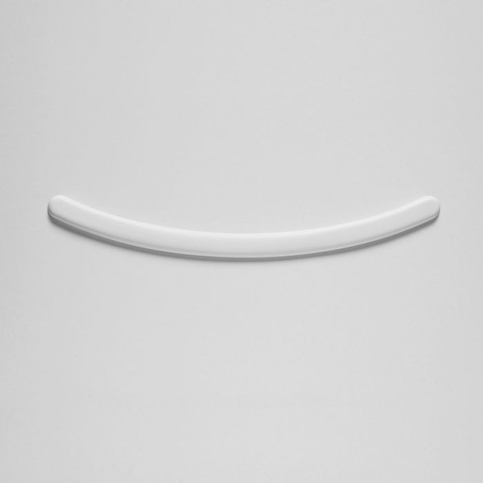 Orac Decor | High Density Polyurathane | 3D Decorative Element | Smile Wall Element | Primed White | 2-5/8in H x 16-3/4in W