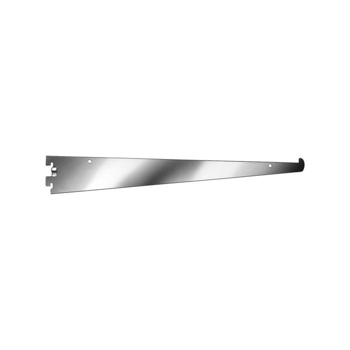 "12"" Satin Chrome Tap In Style Shelf Bracket"