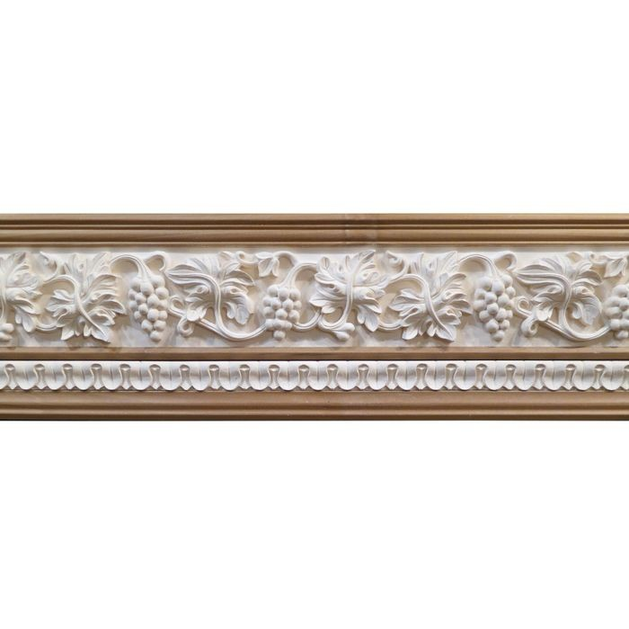10in H x 1-1/2in Proj | Unfinished Polymer Resin | 480-E Series with Bottom Style 7 | Frieze Moulding | 5ft Long