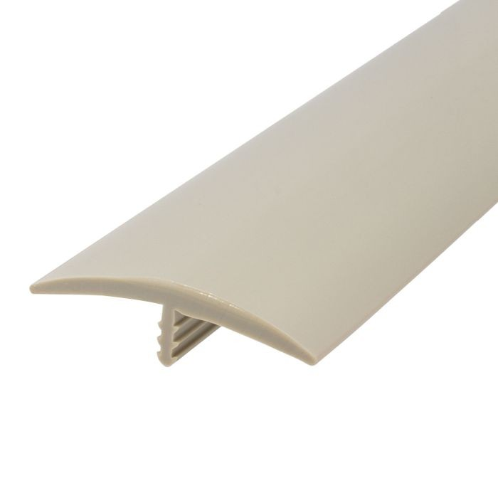 1-1/2in 175 Putty Gray Flexible Polyethylene | Center Barb Tee Moulding | 250ft Coil