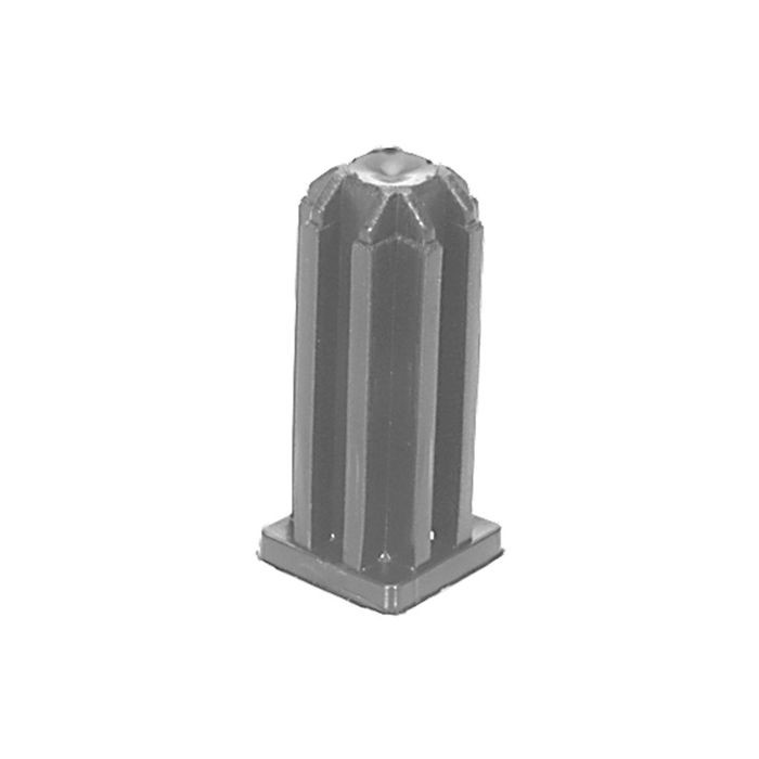 "1"" x 18 - 20 Gauge Square Plastic Socket for 7/16 Stem"