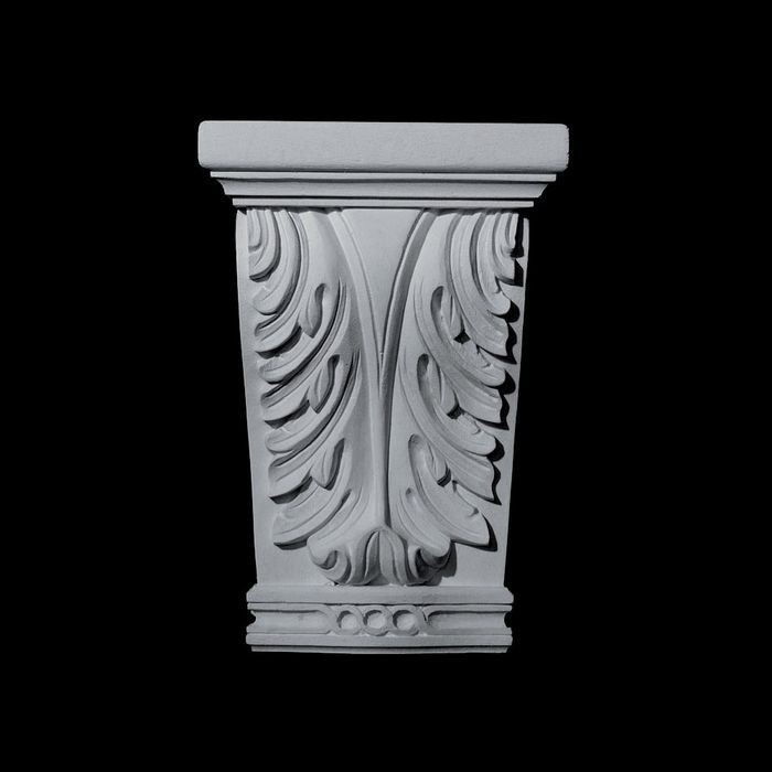 "10-1/4"" Wide x 15-1/4"" High Unfinished Polymer Resin Capital"