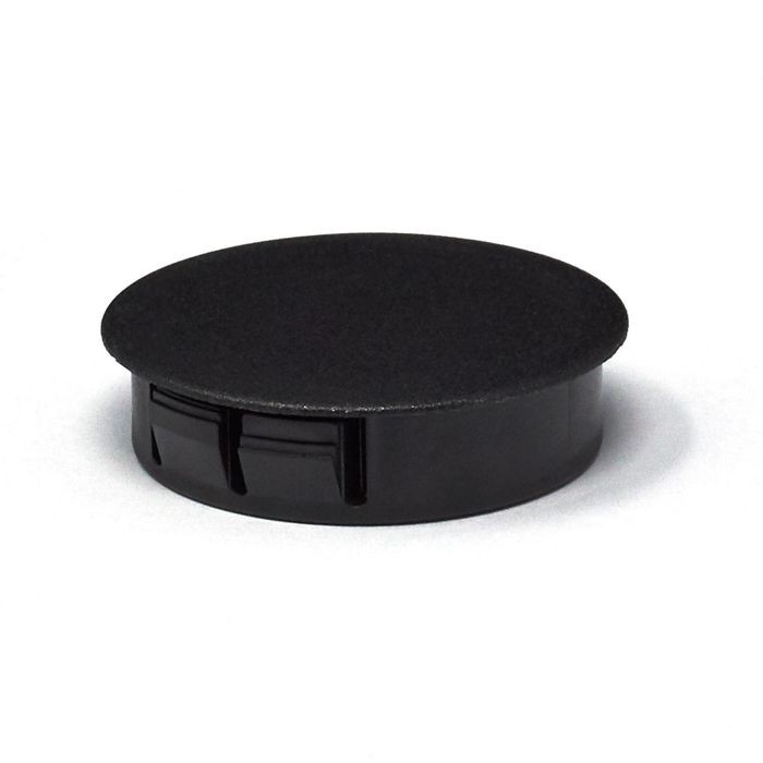 "1-1/2"" Black Nylon Locking Hole Plug"