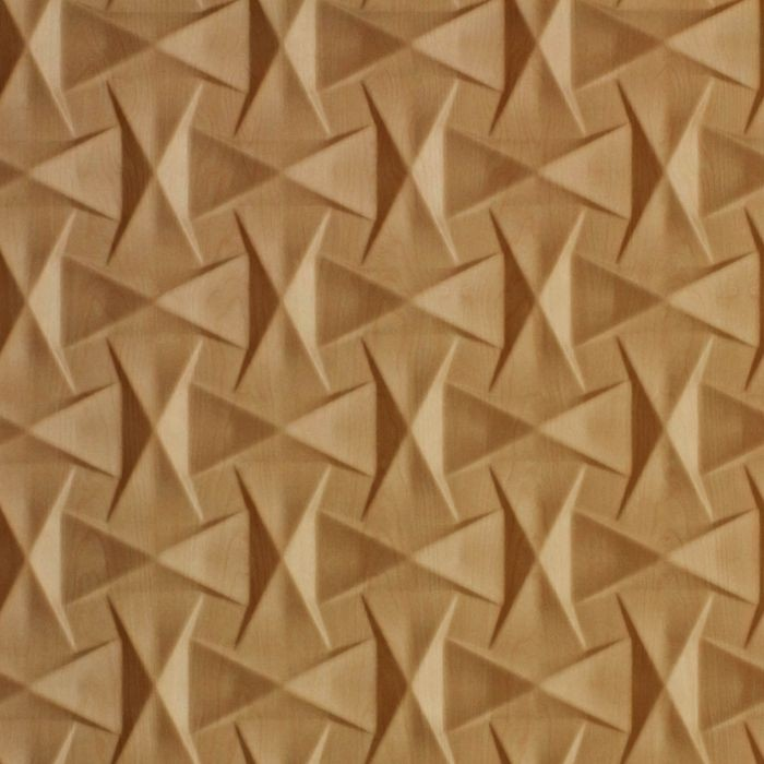 10' Wide x 4' Long Bowtie Pattern Light Maple Finish Thermoplastic Flexlam Wall Panel
