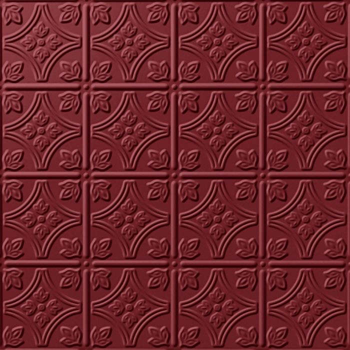 10' Wide x 4' Long Savannah Pattern Merlot Finish Thermoplastic Flexlam Wall Panel