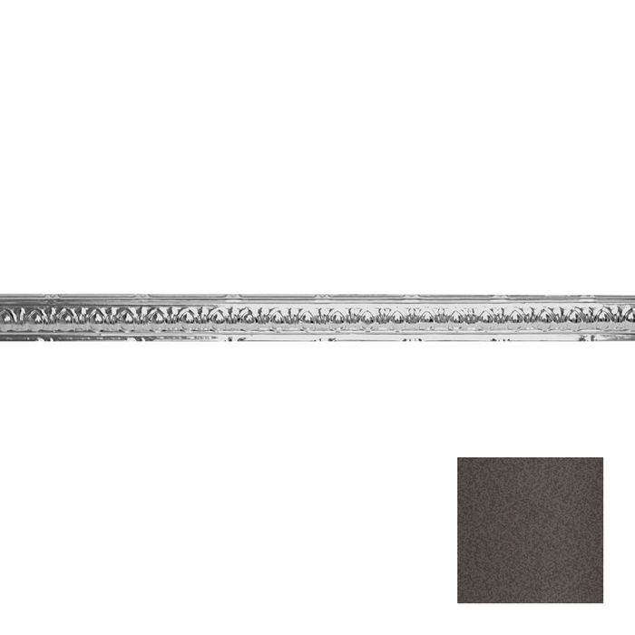 Tin Plated Stamped Steel Cornice | 2-1/2in H x 2-1/2in Proj | Silver Vein Finish | 4ft Long