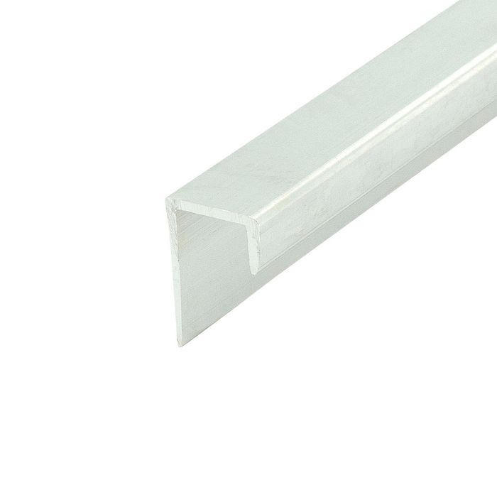 1/2in Mill Finish | Aluminum Cap Moulding | 12ft Length