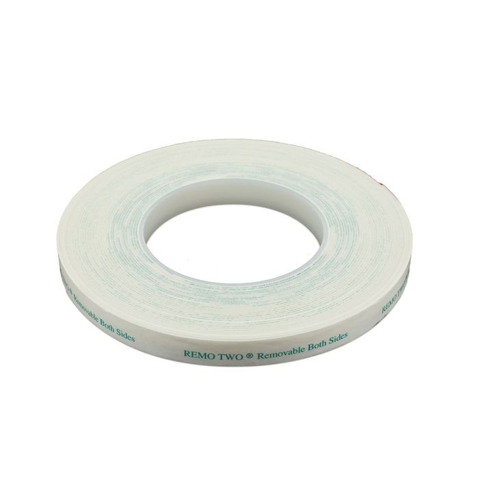 "1/2"" Wide x 1/32"" Thick White Removeable Tape Two Sides"