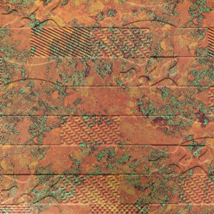 10' Wide x 4' Long Versa-Tile Pattern Copper Fantasy Finish Thermoplastic FlexLam Wall Panel
