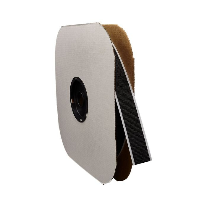 "1-1/2"" Black Sew Quality Hook Fastening Tape 150' Length"