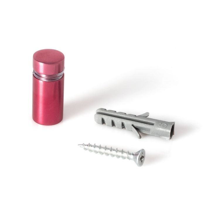 1/2in Dia x 3/4in Barrel Length | Rosy Pink Aluminum | Eco Series Easy Fasten Standoff
