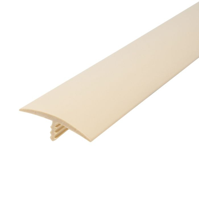 1-1/4in 288 Beige Flexible Polyethylene | Center Barb Tee Moulding | 250ft Coil