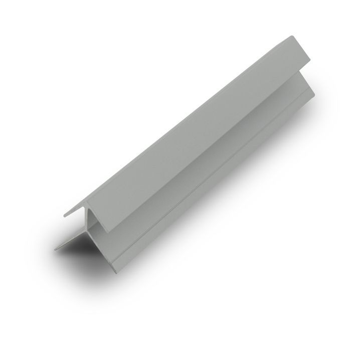 1/4in Clear Anodized (Satin) Finish Aluminum | 90 Degree Outside Corner Channel | 12ft Length