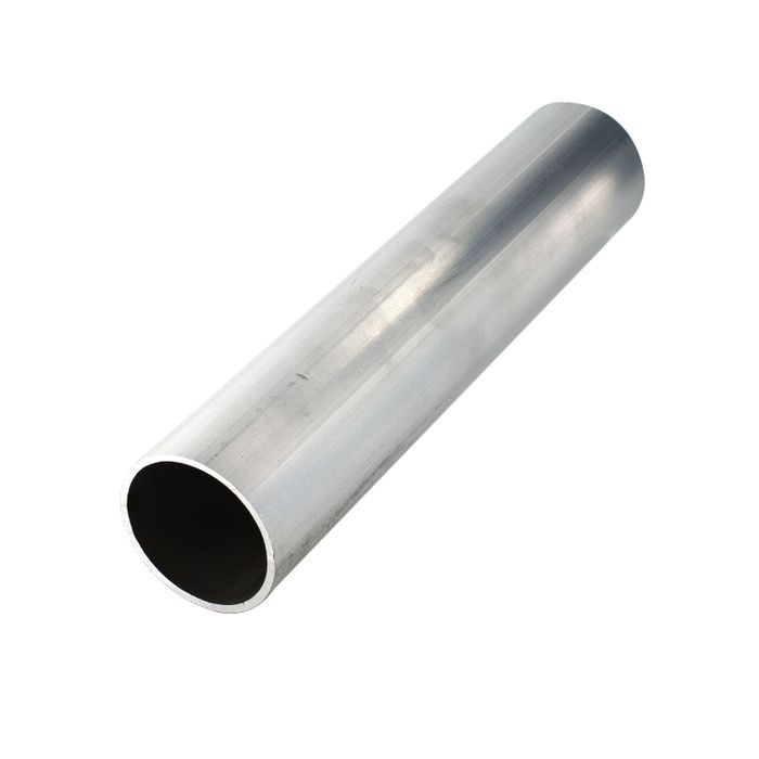 "1-1/2"" Outside Diameter x 1/16"" Wall Thickness Mill Finish Round Aluminum Tube - 8' Length"