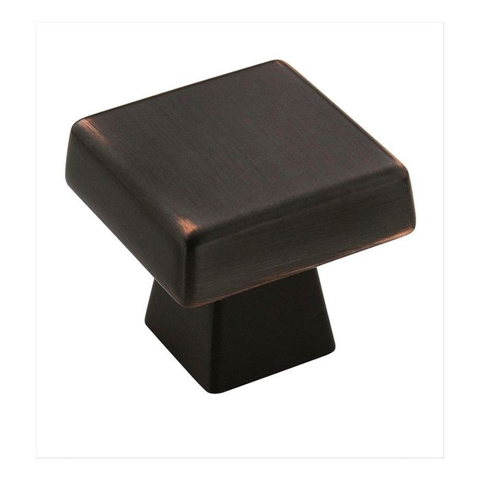 "1 1/2"" Square Knob Oil Rubbed Bronze"