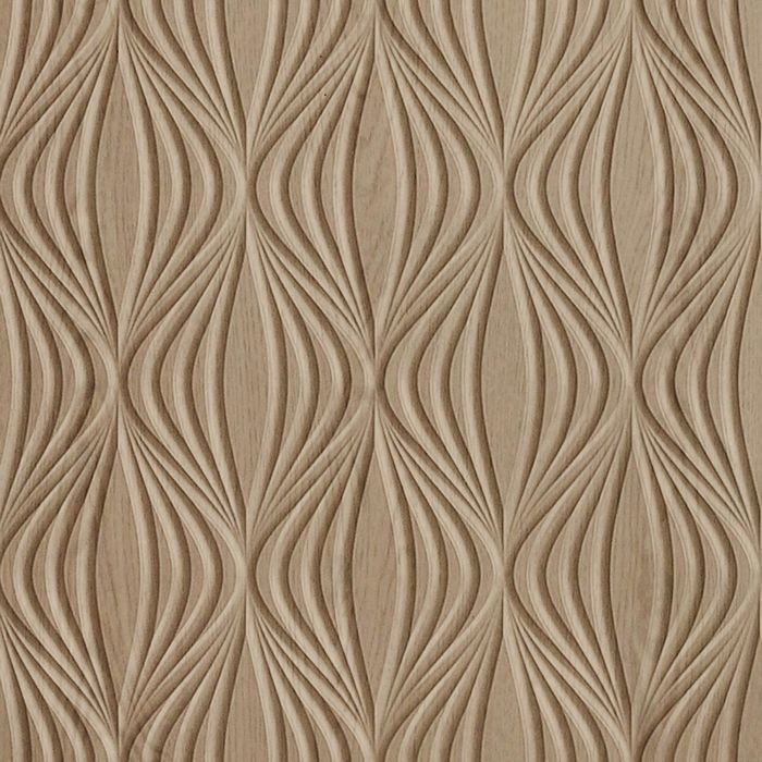 10' Wide x 4' Long Shallot Pattern Washed Oak Finish Thermoplastic Flexlam Wall Panel