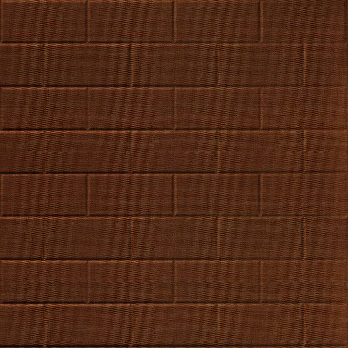 10' Wide x 4' Long Subway Tile Pattern Linen Chocolate Finish Thermoplastic Flexlam Wall Panel