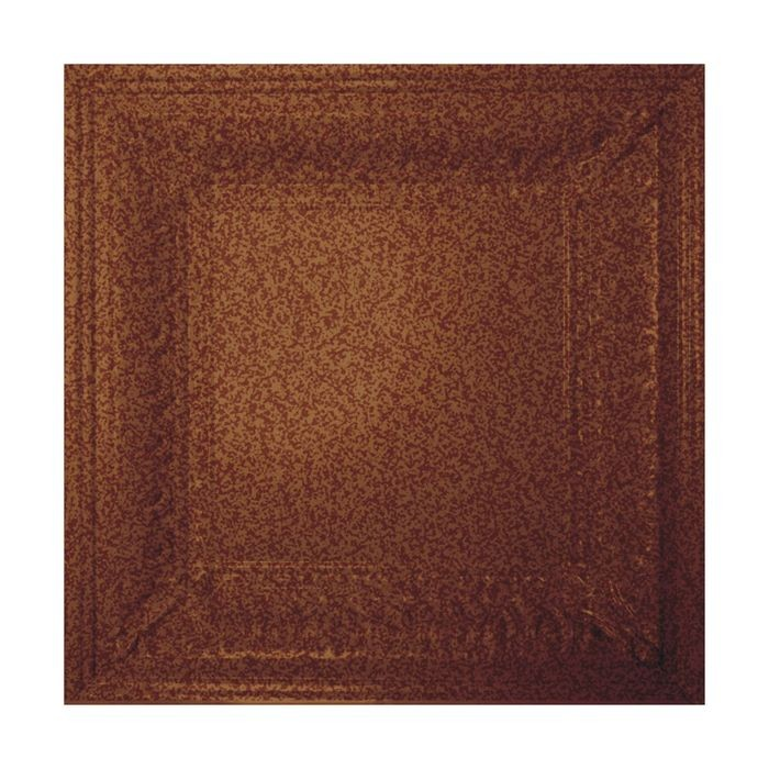 Tin Plated Stamped Steel Ceiling Tile | Lay In | 2ft Sq | Cherrywood Finish