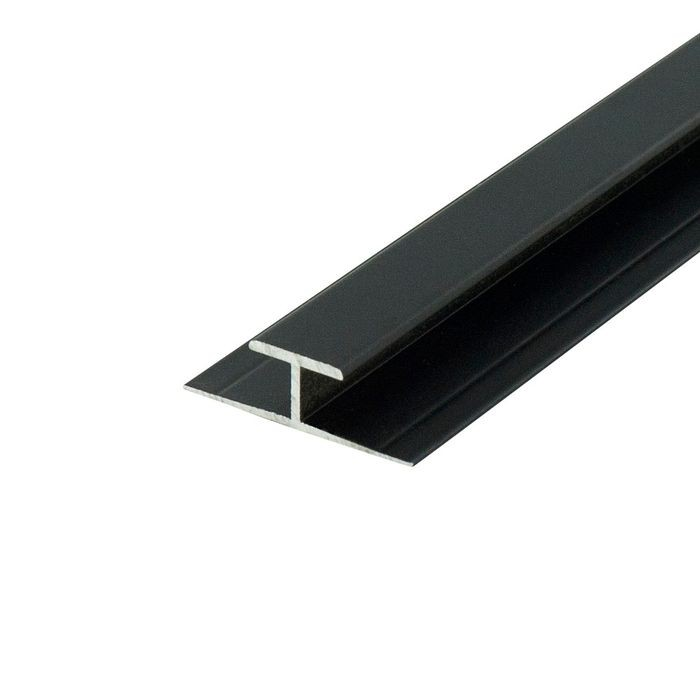 "1/4"" to 9/32"" Black Aluminum Divider Moulding 12' Length"