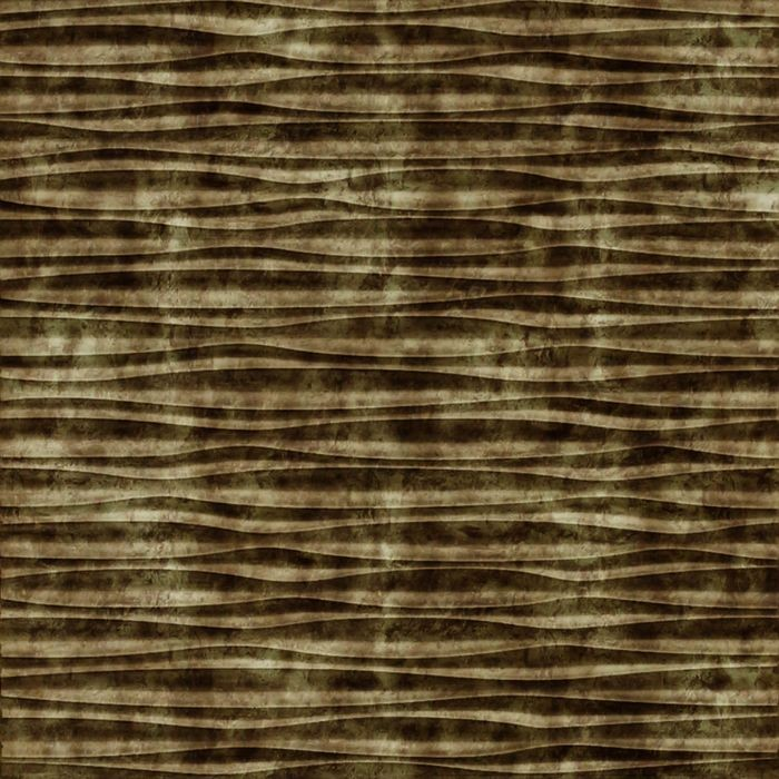 10' Wide x 4' Long Sahara Pattern Bermuda Bronze Finish Thermoplastic Flexlam Wall Panel