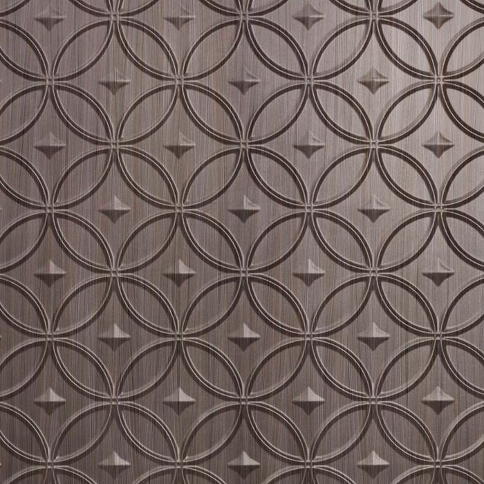 10' Wide x 4' Long Celestial Pattern Bronze Strata Finish Thermoplastic Flexlam Wall Panel