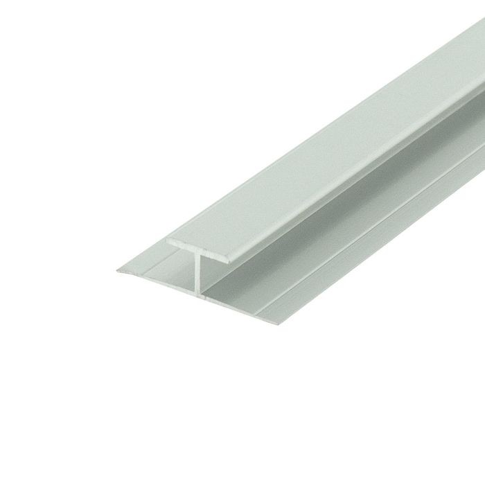 1/4in to 9/32in Clear Anodized (Satin) Finish | Aluminum Divider Moulding | 12ft Length