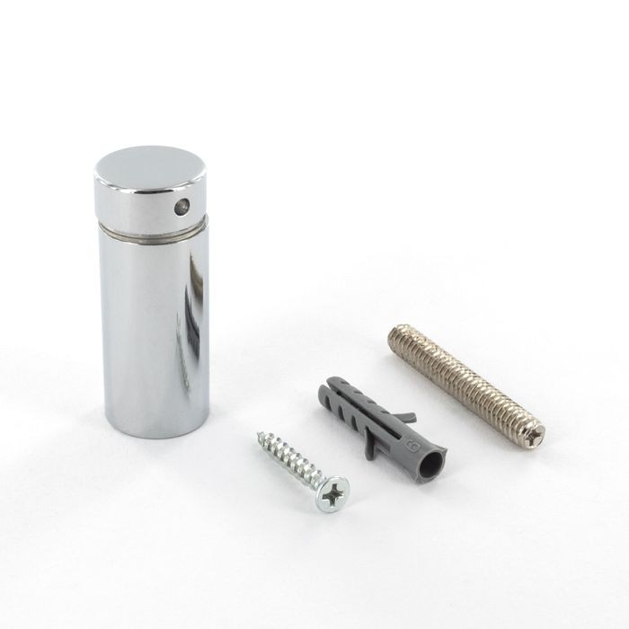 "3/4"" Diameter x 1-1/2"" Barrel Length Polished Chrome Finish Premium Steel X Series Secure Fasten Standoff"