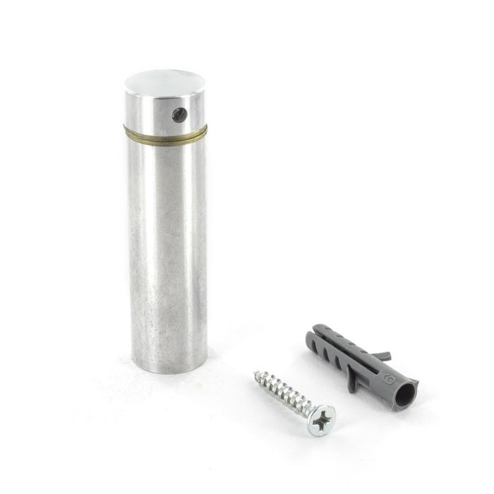 "5/8"" Diameter x 2"" Barrel Length Satin Stainless Finish Premium Aluminum Series Secure Fasten Standoff"