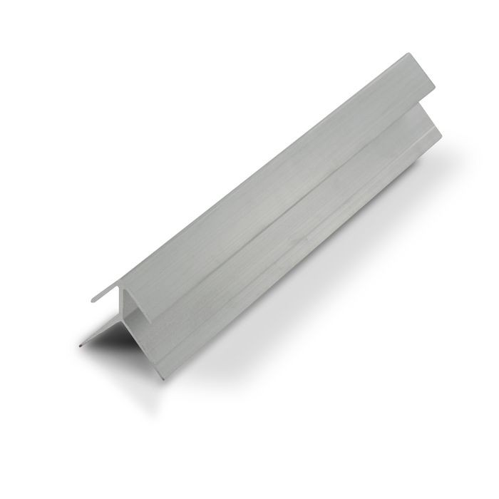 1/4in Mill Finish Aluminum | 90 Degree Outside Corner Channel | 12ft Length