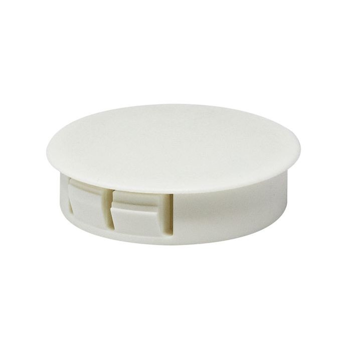 "1-1/2"" White Nylon Locking Hole Plug"