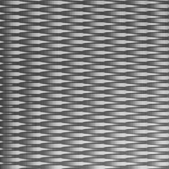 10' Wide x 4' Long Interlink Pattern Brushed Aluminum Finish Thermoplastic Flexlam Wall Panel