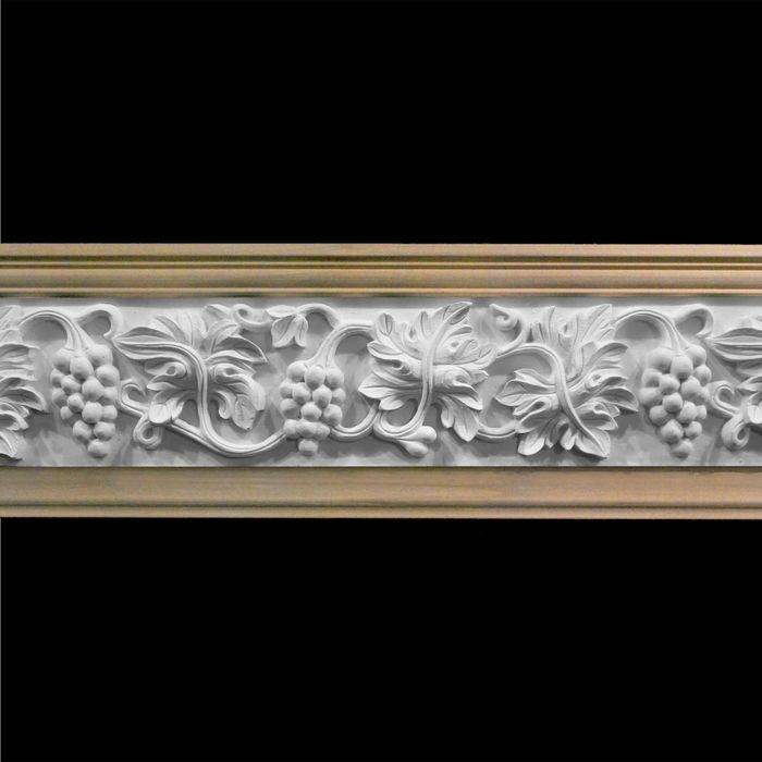"1"" Projection Unfinished Polymer Resin Artisan Collection Frieze Moulding 8' Length"
