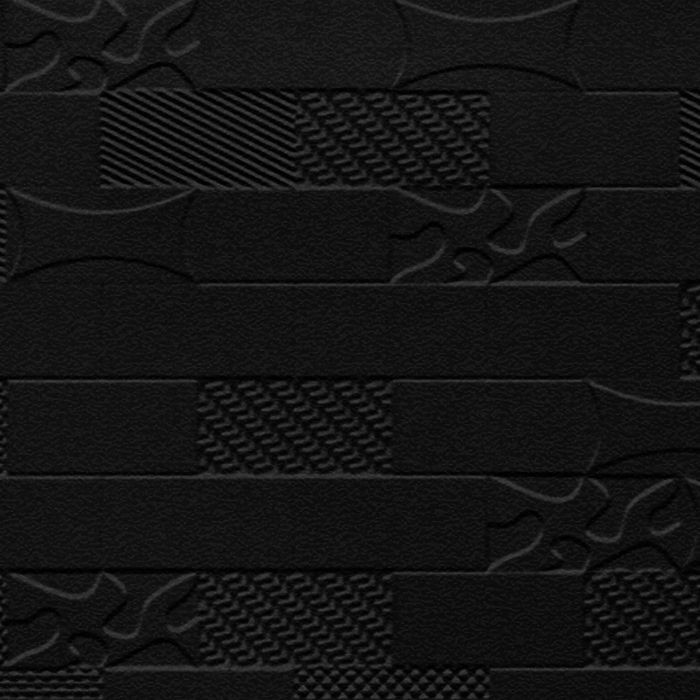 10' Wide x 4' Long Versa-Tile Pattern Eccoflex Black Finish Thermoplastic FlexLam Wall Panel