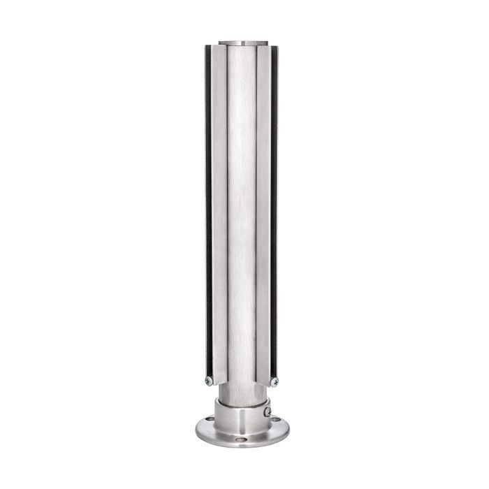 1-1/2in Dia x 12in H | Satin Stainless Steel Finish | Partition Corner Post