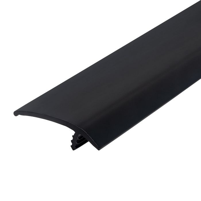 1-1/2in 260 Black Flexible Polyethylene | OffsetBarb Tee Moulding | 250ft Coil