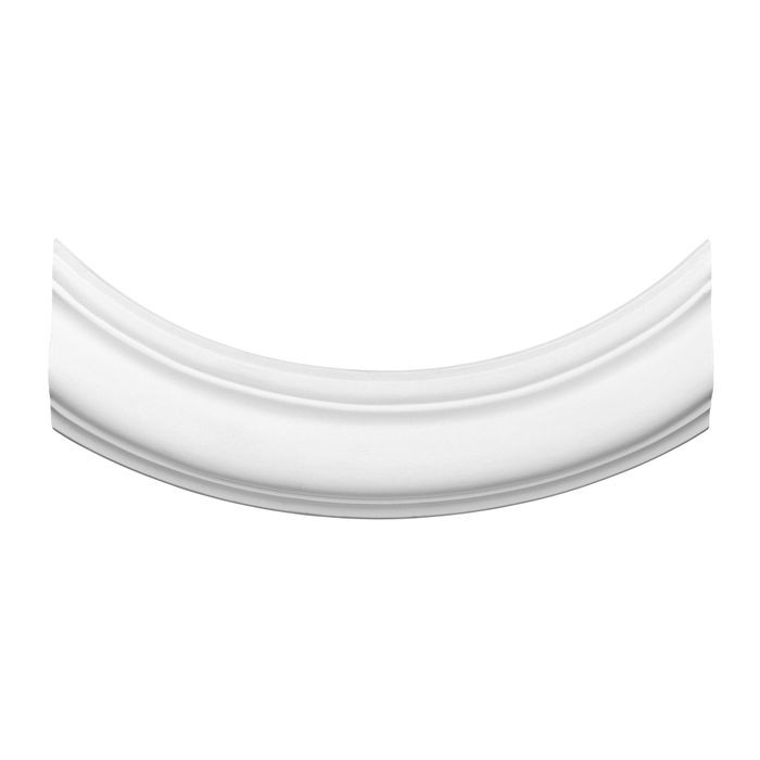 Orac Decor | High Density Polyurethane Panel Moulding Curve Used With P8030 | Primed White | 7-1/2in H x 5/8in Proj | P-8030B Series
