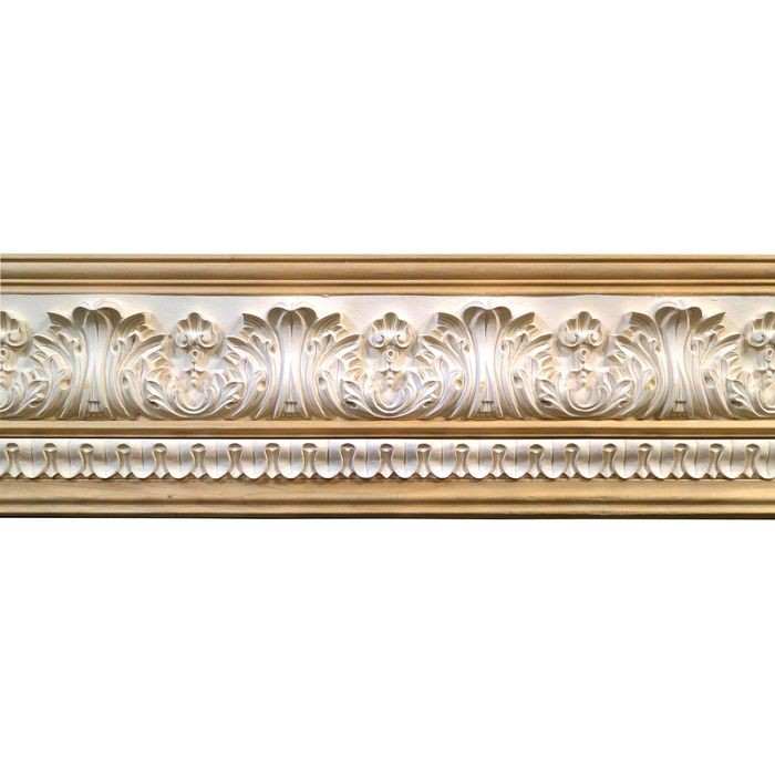 10in H x 1-1/2in Proj | Unfinished Polymer Resin | 480-B Series with Bottom Style 7 | Frieze Moulding | 5ft Long