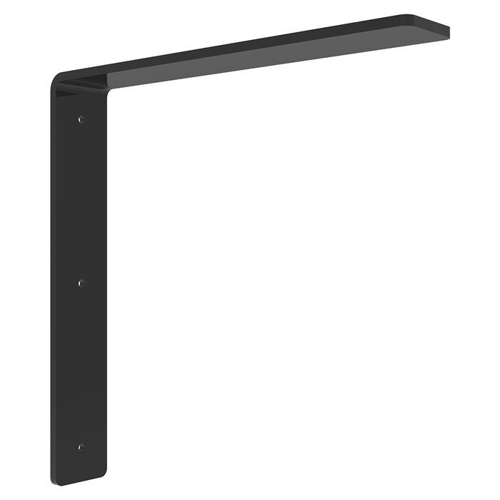 "10"" x 10"" x  Long Powder Coated White Hidden Steel Countertop Support Bracket"