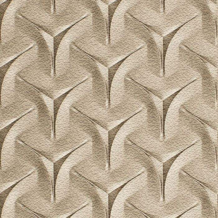 10' Wide x 4' Long Japanease Weave Pattern Eccoflex Tan Finish Thermoplastic FlexLam Wall Panel