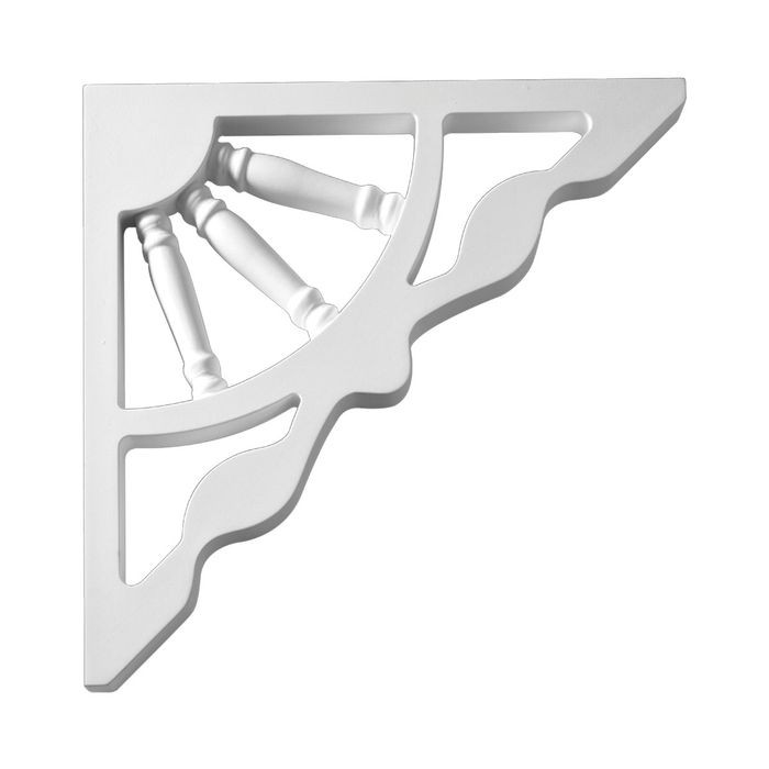 "1"" Wide x 12"" High Primed White Polyurethane Bracket"