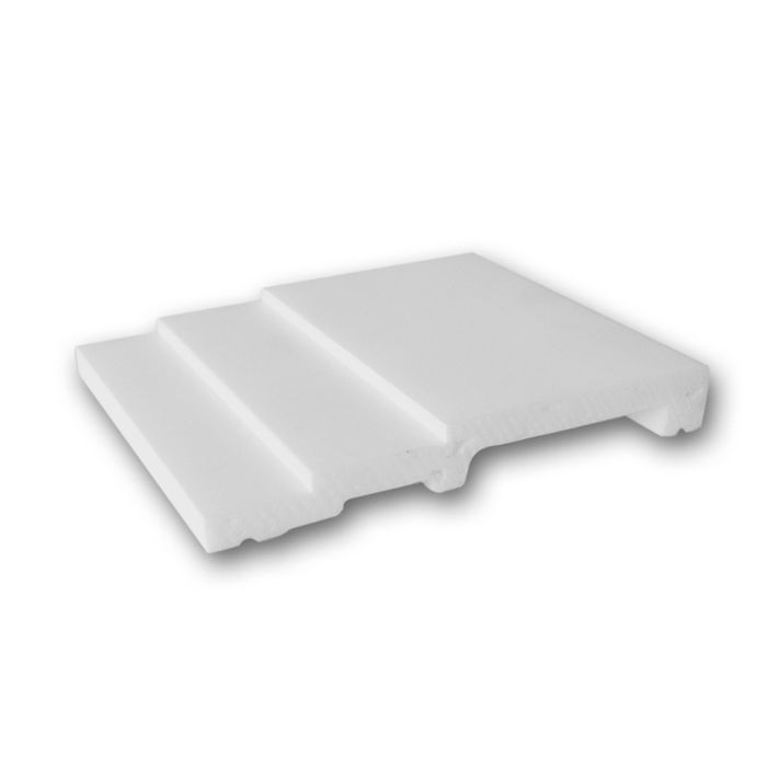Orac Decor | High Impact Polystyrene Baseboard Moulding | Primed White | 4in Sample Piece | SX180 Series