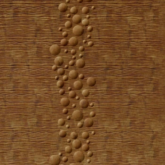 10' Wide x 4' Long Cascade Pattern Muted Gold Finish Thermoplastic Flexlam Wall Panel
